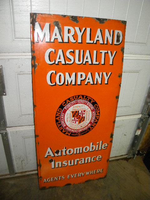 $OLD Maryland SSP Porcelain Lighthouse Sign