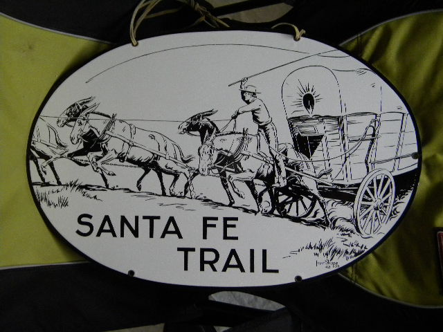 $OLD Original Santa Fe Trail SSP Porcelain Sign w/ Graphics