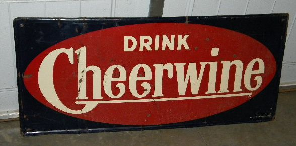$OLD Original Cheerwine Tin Advertising Sign 1954