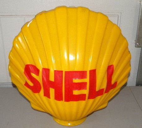 $OLD Shell Clam Plastic Globe