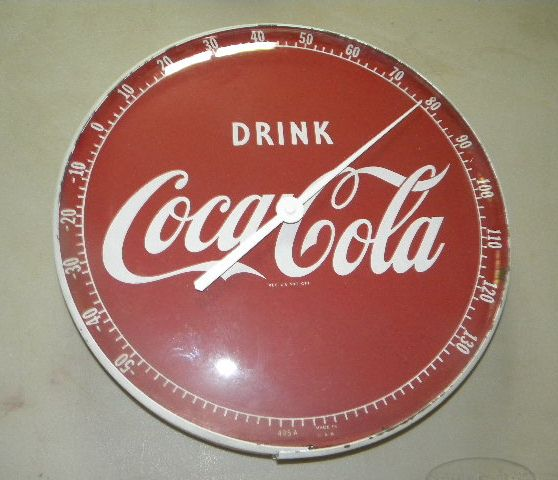 Original Coca Cola Thermometer $OLD