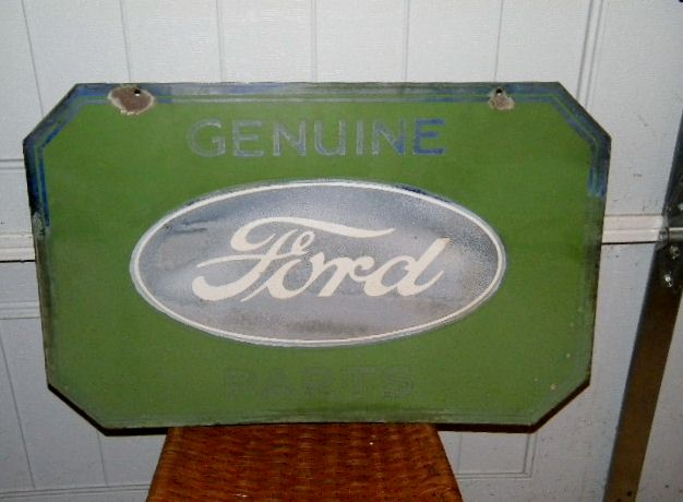 $OLD Ford Genuine Parts DSP Porcelain Sign