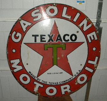 $OLD Texaco 42 inch porcelain sign
