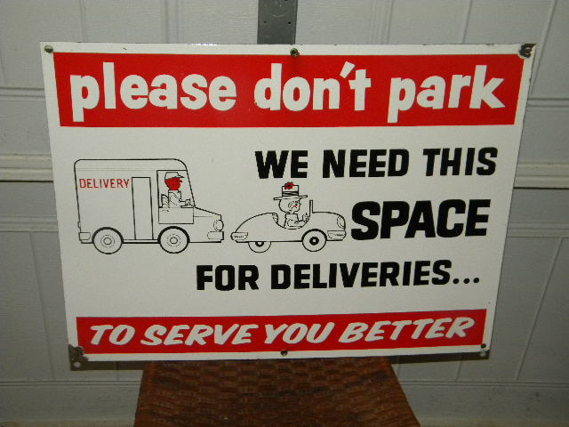 $OLD A&P Porcelain Grocery Store Sign