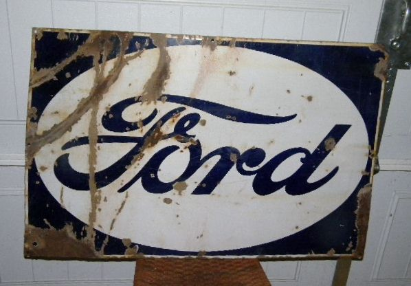 $OLD Old Porcelain Ford Sign