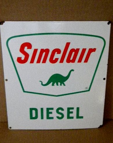 $OLD Sinclair Diesel Porcelain Gas Pump Sign