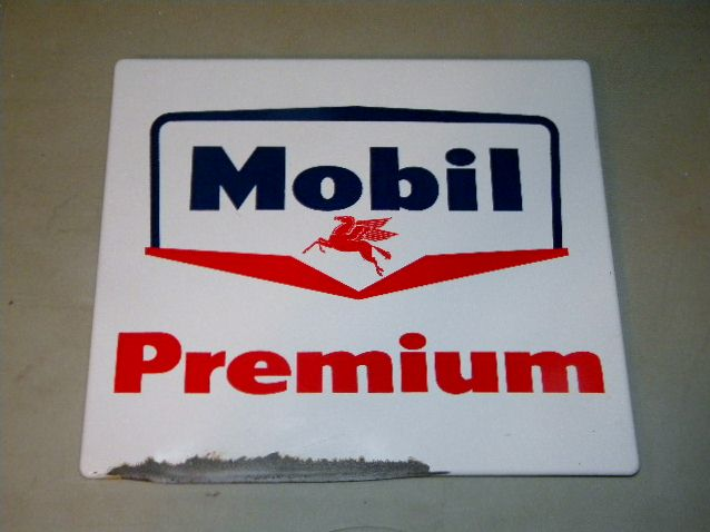 $OLDMobil Premium Pump Sign Porcelain