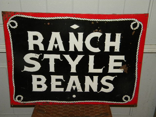 $OLD Ranch Style Beans Embossed Tin Sign