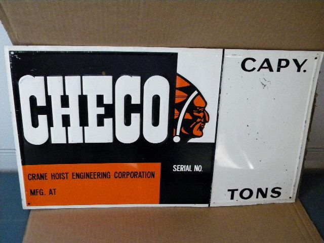 $OLD Checo Tin Sign w/ Indian Graphics