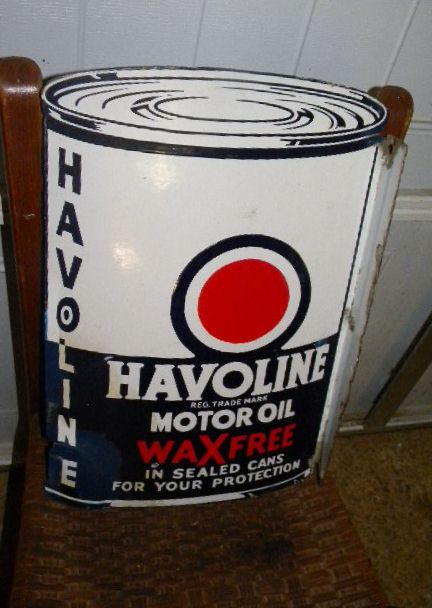 $OLD Havoline porcelain flange sign