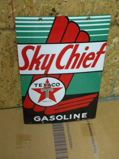 $OLD Texaco Sky Chief Pump Sign