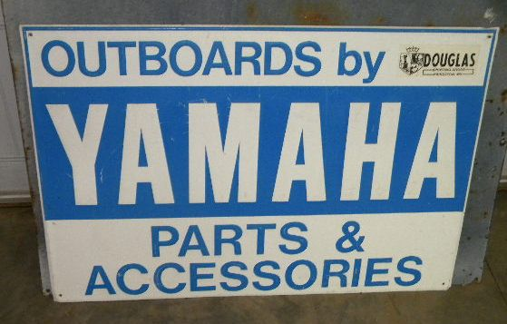 $OLD Yamaha Outboards Embossed Aluminum/Tin Sign