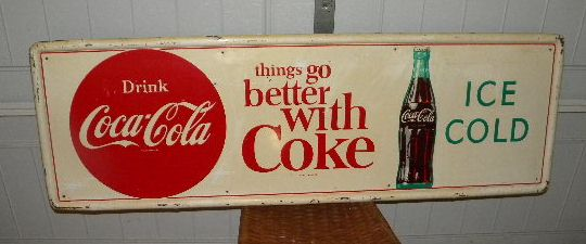 $OLD Coke Tin Sign