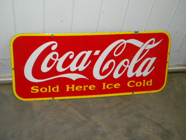 $OLD Coca Cola Canadian Porcelain Sign