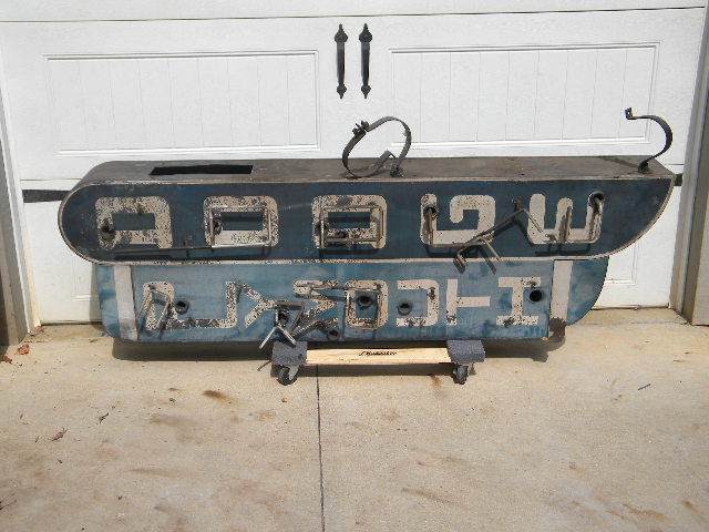 $OLD Dodge Plymouth Vertical DST Neon Sign