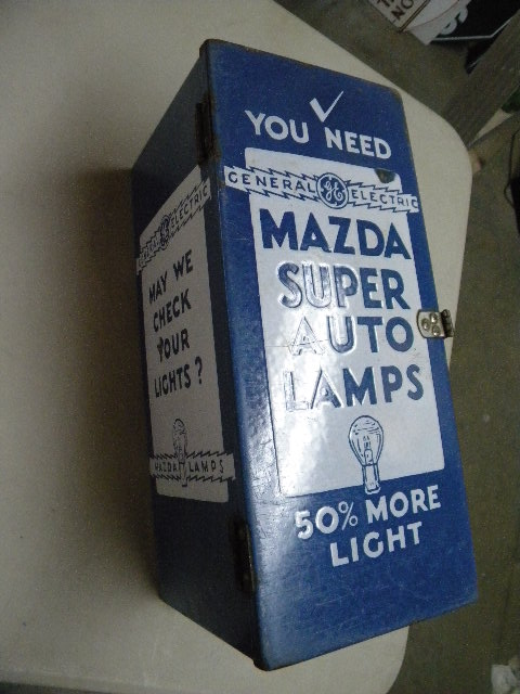 $OLD Mazda Auto Lamp Porcelain Cabinet Display