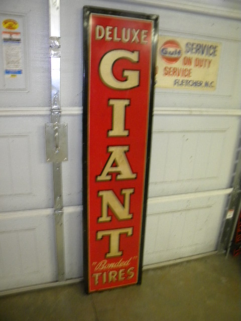 $OLD Giant Tires SST Vertical Sign