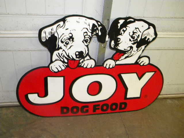 $OLD Original Joy Dog Food Diecut Sign
