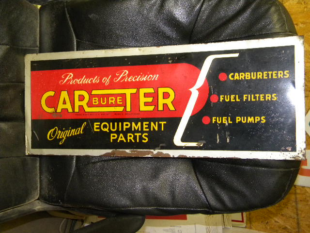 $OLD Carter Carburetor Tin Sign