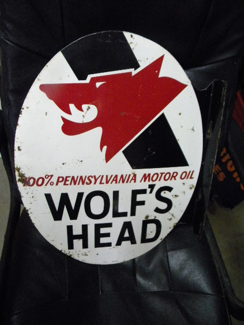 $OLD Wolf's Head Tin Flange