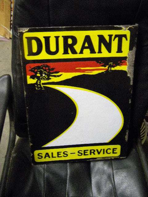 $OLD Durant Porcelain Flange Sign
