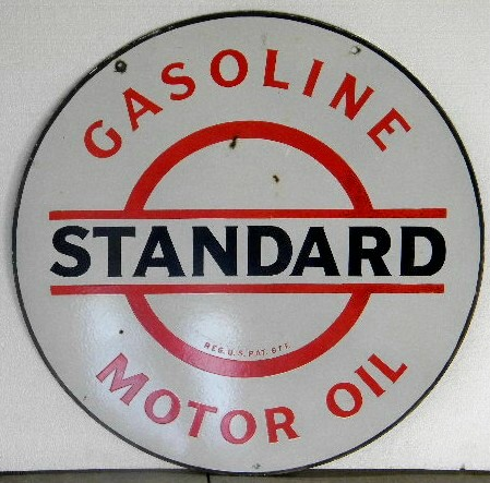 $OLD Standard DSP Gasoline Porcelain Sign