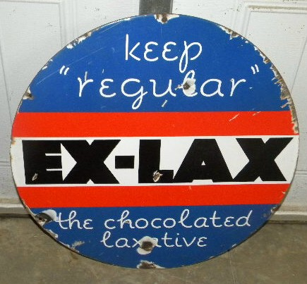 $OLD Ex Lax 20 Inch Porcelain Sign