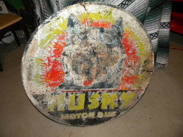 Husky Double Sided Tin Labor of Love other Side