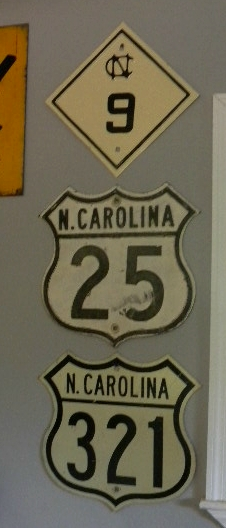 NC State Route 9 w/ US 25 & 321 Shields
