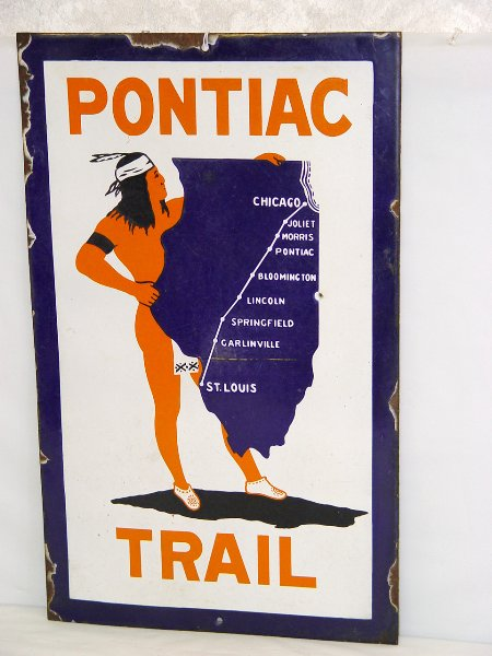 Wanted: Old Porcelain Auto Trails Signs Any type - Any Condition!
