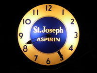 $OLD St Josephs Aspirin Original Clock