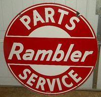 $OLD Rambler Parts & Service DSP Porcelain Sign
