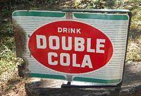 $OLD Double Cola Spinner Sign w/ Bracket