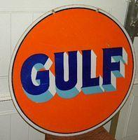 Killer 30 Inch Gulf Double Sided Porcelain Curb Sign $OLD