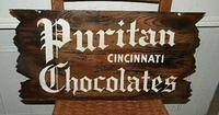 $OLD Puritan Cincinnati Chocolates Sign