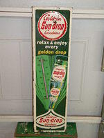 $OLD Sun Drop Golden Cola Thermometer w/ Bottle