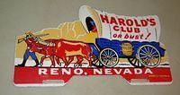 $OLD Harold Club or Bust!  Casino License Plate Topper Reno, Nevada