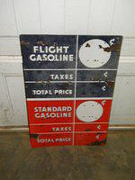 $OLD Flight Standard DSP Porcelain Gas Pump Price Sign