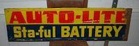 $OLD Autolite Battery Tin Sign