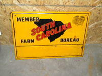 $OLD South Carolina Farm Bureau Tin Sign