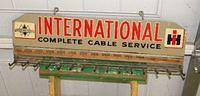 $OLD International Harvester IH Tin Display Rack Sign