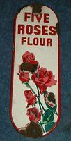 $OLD Five Roses Flour Porcelain Door Push