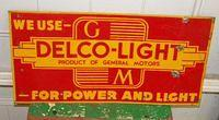 $OLD GM Delco Light SST Tin Sign