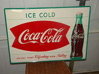 $OLD Gorgeous Coca Cola Sign w/ bottle