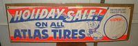 $OLD Atlas Esso Banner with Oil Drop Boy & Car Graphics