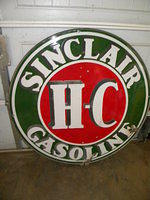 $OLD Sinclair HC DSP Porcelain Sign w/ Ring