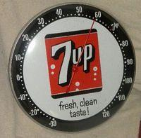 $OLD Original 7UP Seven Up Thermometer (PAM TYPE)