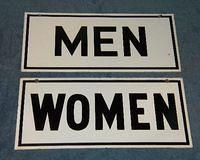 $OLD Restroom Signs Men & Womens