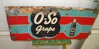 $OLD Oh So Grape Embossed Tin Soda Pop Sign