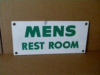 $OLD Porcelain  Mens Room Sign